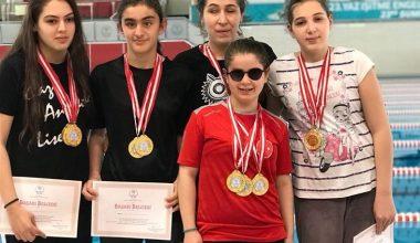 Yüzme Şampiyonasında 6 Madalya!