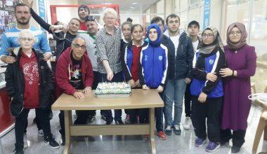 Sporcumuz Aydın Bozkurt'a doğum günü kutlaması