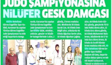 Türkiye Judo Şampiyonasından Basına yansıyan haberlerimiz