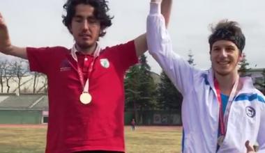 Milli Atletimiz  Fatih Bayer'den, altın madalya.