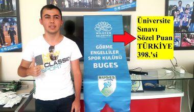 Üniversite Sınavında Sporcumuz Muhammet Balcı'dan Büyük Başarı
