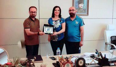 Başkan Yardımcısı Dr.Sibel Özer'i Ziyaret Ettik.