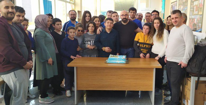 Mutlu Başkan ve Sporcumuz Harun'a sürpriz doğum günü