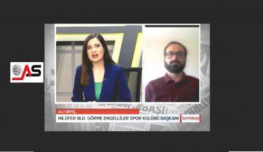 Başkanımız Ali GENÇ AS TV'de canlı yayına konuk oldu